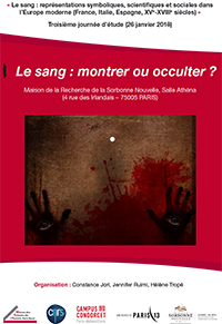 Le sang : montrer ou occulter ?