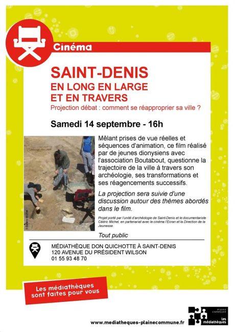 """Projection du film """"Saint-Denis, Passé, présent, futur"""" + débat citoyen """"Comment se réapproprier sa ville"""""""